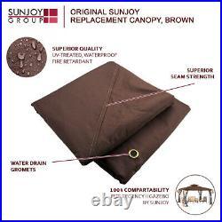 Brown Replacement Gazebo Canopy for 10 x 12 Regency II Patio Gazebo