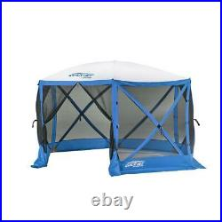 CLAM Quick-Set Escape Sport 11.5 x 11.5 Ft Tailgating Canopy Shelter Tent, Blue