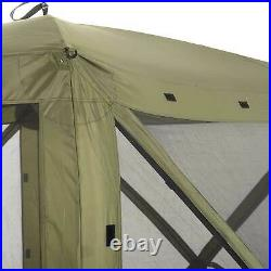 CLAM Quick-Set Traveler 6 x 6 Ft Portable Outdoor 4 Sided Canopy Shelter, Green