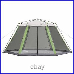 COLEMAN SCREEN HOUSE CANOPY SUN SHELTER TENT With INSTANT SETUP 1 ROOM, GREEN DM