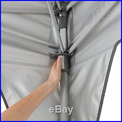 CORE 10 x 10 Instant Shelter Canopy with Wheeled Carry Bag, Gray
