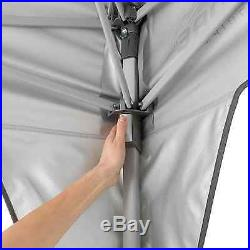 CORE 10' x 10' Instant Shelter Canopy with Wheeled Carry Bag Gray