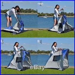 Cabana Beach Tent Sun Shelter Blue Lightspeed Outdoors Quick Lightweight