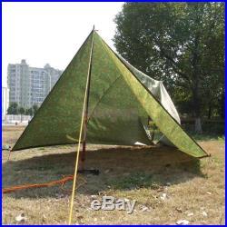 Camo Camping Beach Tarp Tent Awning Canopy Sun Shade Rain Shelter Picnic Pad