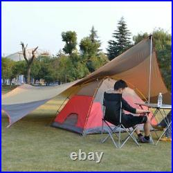 Camping Sun Shelter 5-8 Person Waterproof UV-Protection Beach Shade 18x18.4 Ft