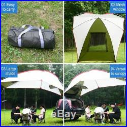 Camping Teardrop Trailer Awning Car Truck SUV Awning Tent Sun Shelter Canopy