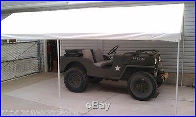 Canopy 10' X 20' Caravan Carport Tent Car RV Awning Garage Wedding Shelter White