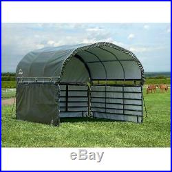 Canopy Enclosure Kit Cover Portable Shelter Carport UV Protection 12 x 12 ft. Gr