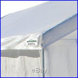 Canopy Garage 10x20 Side Wall Straight Leg Kit Car Shelter Portable Carport Tent