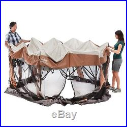 Canopy Gazebo Tent Shelter 12x10 Ft Instant Sun Bug Insect Screen Room Portable