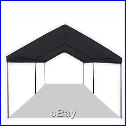 Caravan Canopy Domain 10x20' Straight Leg Instant Canopy Tent, Black (Open Box)