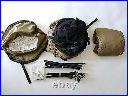Catoma Military Camping Shelter Tent EBNS w Pole Stakes Rainfly Coyote Brown