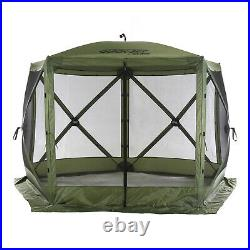Clam Corp Portable Canopy Pop Up Tent with Mosquito Mesh, Green/Black (Used)