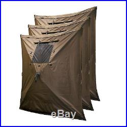 Clam Quick Screen Hub Brown Fabric Wind & Sun Panels Accessory Only (6 Pack)