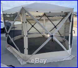 Clam Quick Set Escape Portable Camping Gazebo Canopy Shelter Screen Open Box