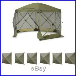 Clam Quick Set Escape Portable Canopy Shelter + Wind and Sun Panels (6 pack)