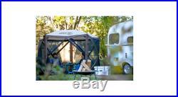 Clam Quick-Set Escape Portable Outdoor Gazebo Canopy Brown Open Box Heavy Duty