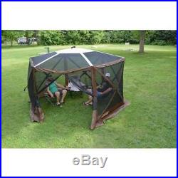 Clam Quick Set Escape Sky Screen Portable Camping Gazebo Shelter, Brown (Used)