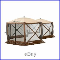 Clam Quick Set Excursion Pop Up 2 Room Outdoor Gazebo Canopy Shelter (2 Pack)
