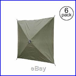 Clam Quick Set Screen Hub Green Fabric Wind & Sun Panels Accessory Only (6 Pack)