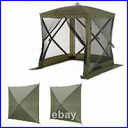 Clam Quick-Set Traveler Outdoor Screen Shelter withWind Panels (2 Pack), Green