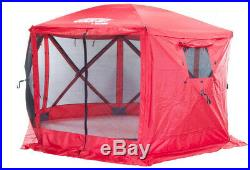 Clam Quickset Escape 6-Side Red Sport Screen Shelter