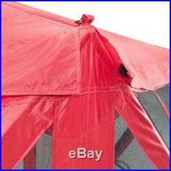 Clam Screen Shelter Pop-Up Tent Durable Collapsible Water Resistant Red 6-Side