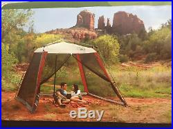 Coleman 10'x10' Slant Leg Instant Canopy Screen House Shelter Sunshade Block New
