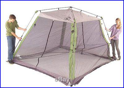 Coleman 10 x 10 Instant Screened Shelter Canopy Tent Camping Sun Beach Gazebo