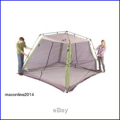 Coleman 10 x 10 Instant Screened Shelter Portable Camping BBQ Deck Patio Pool
