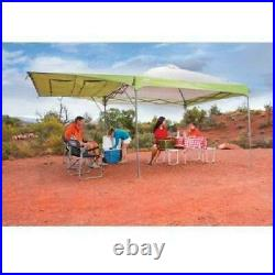 Coleman 10' x 10' Instant Straight Leg Canopy Gazebo with Added Swing Wall 100