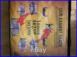 Coleman 10x10 Instant Canopy Screen House Shade Tent Beach Camping BRAND NEW