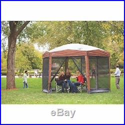 Coleman 12 ft x 10 ft Instant Screened 50+UVGuard Comfort Grip 8 Person Canopy