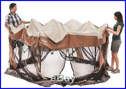 Coleman 12 x10 ft Hex Instant Screened Canopy/Gazebo Portable Outdoor Shade New