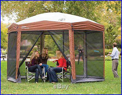 Coleman 12 x 10 Hex Instant Screened Shelter Gazebo Canopy Tent Outdoor Yard New