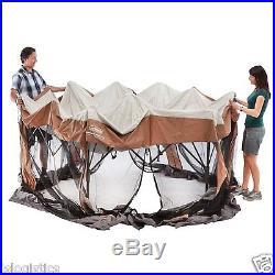 Coleman 12x10 Hex Instant ScreenedCamping Beach Sun Screen Canopy Shelter Tent
