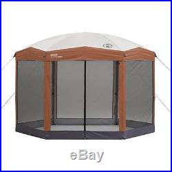 Coleman 12x10 Hex Instant Screened Canopy Gazebo Outdoor Party Tent Patio NEW