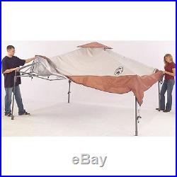 Coleman 13x13 Instant Shelter Wheeled Carry Bag Back Home Yard Patio Canopy 50UV