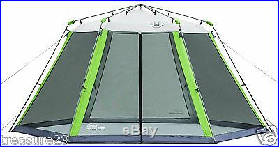 Coleman 15 x 13 Instant Screened Shelter Camping Shade Tent Picnic