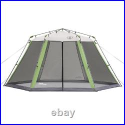 Coleman 15 x 13 Outdoor Screened Canopy Sun Shelter Tent with Instant Setup