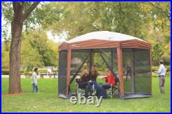 Coleman Back Home Instant Setup Screened Canopy Sun Shelter Tent, Brow 12 x 10