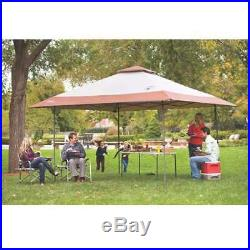 Coleman Camping Tailgating BBQ Eaved Instant Canopy Shelter 13x13' (Open Box)