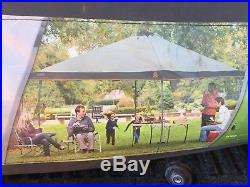 Coleman Camping Tailgating Backyard BBQ Eaved Instant Canopy Shelter 13' x 13
