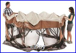 Coleman Hex Instant Screened Canopy Gazebo Mosquito Insect Protection 12x10 ft