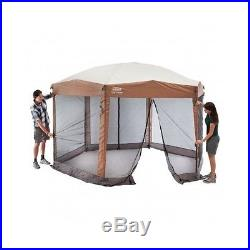 Coleman Instant Portable Screened 12 x10 Tent Canopy camp tailgate beach picnic