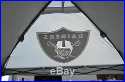 Coleman NFL Team Logo Easy Tailgate Canopy withWall 10x10 Deluxe Oakland Raiders