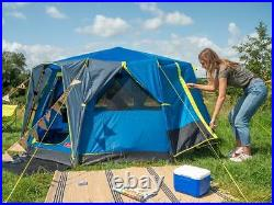 Coleman OctaGo Octagon Tent in Blue 3 Person Festival Garden Camping Yurt Style