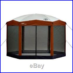 Coleman Screened Canopy Gazebo 12' X 10' Hex Instant Setup Insect Screen Shade