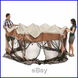 Coleman Screened Canopy Sun Shade 12x10 Tent with Instant Setup Brown Unisex