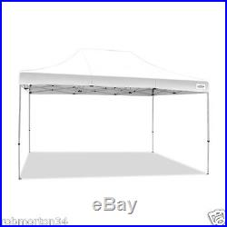 Commercial Grade Canopy White 10x15 Large Protection Shade Polyester Portable 70